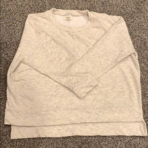 Madewell cropped sweatshirt Med
